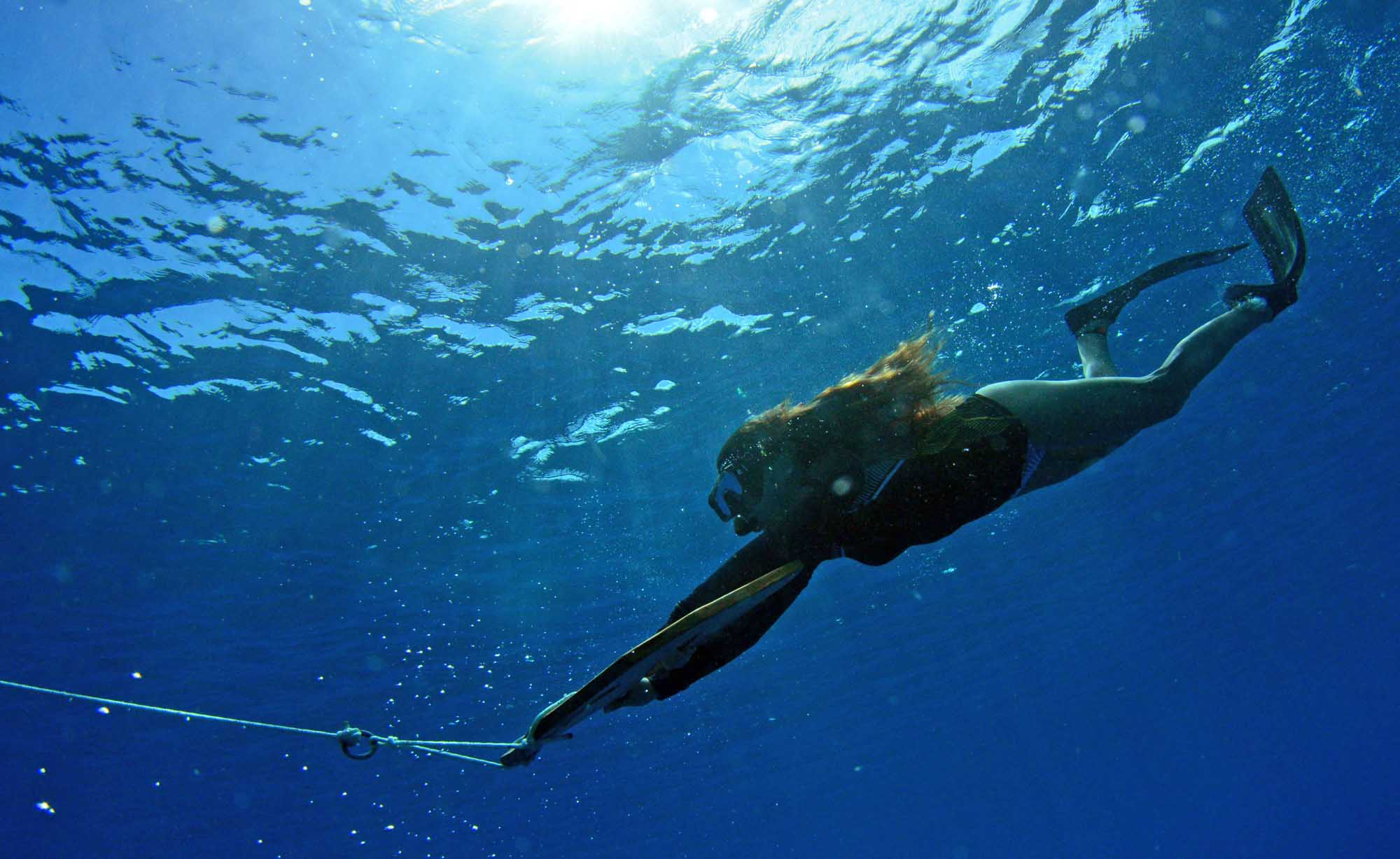 Underwater flying subwing freediving snorkeling Boat tours Moorea Ocean Adventures